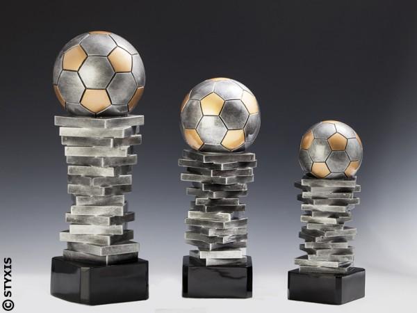 """Resintrophäe """"Soccer Trophy' Fussball, 3 Größen"""
