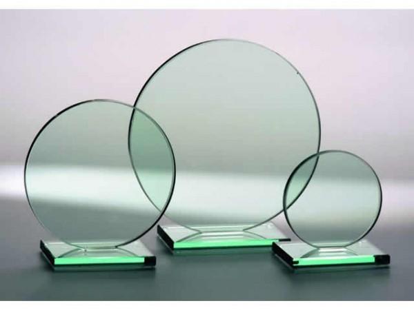 Glastrophäe Rund, 3 Größen, 10mm Stärke