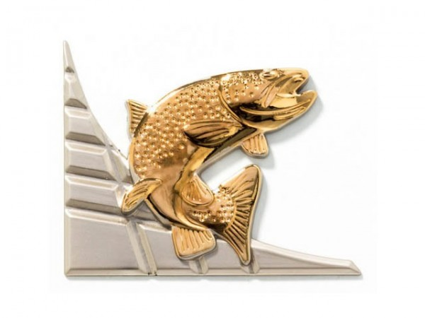 3D-Dekor Angeln (Hochglanz Metall)