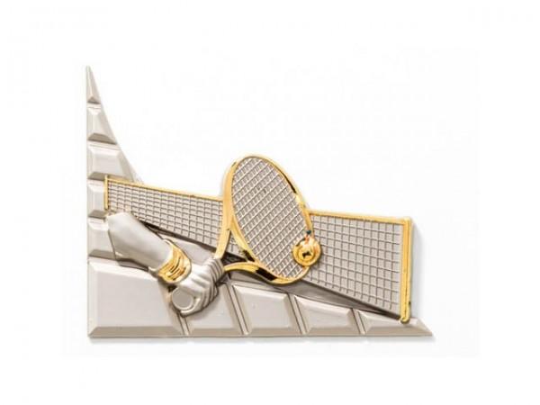 3D-Dekor Tennis (Hochglanz Metall)