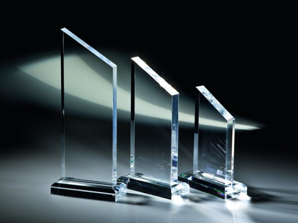 "Acrylglas Trophäe ""Dolomit"", 3 Größen, 18mm Stärke"