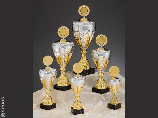"Pokale Serie ""Nicole"" 6er Serie, Gold/Silber"