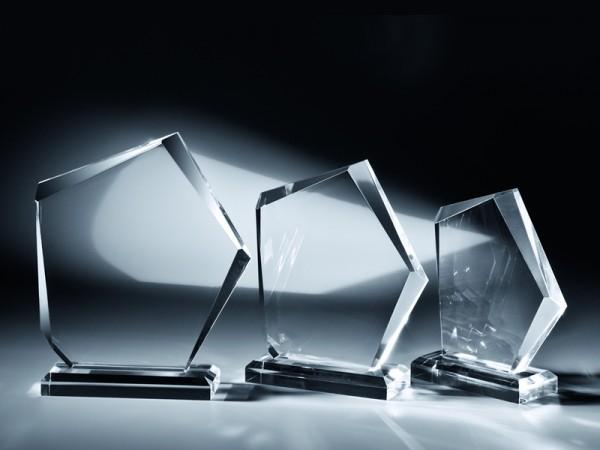 """Acrylglas Trophäe """"Acrylfels"""", 3 Größen, 18mm Stärke"""