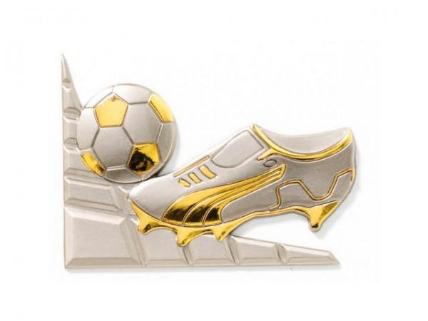 3D-Dekor Fußballschuh (Hochglanz Metall)