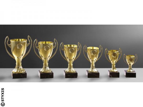 Preiswerte 6er Serie, Gold, Henkelpokale