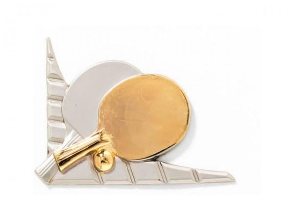 3D-Dekor Tischtennis (Hochglanz Metall)