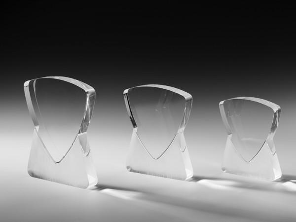 """Acrylglas Trophäe """"Dominanz"""", 3 Größen, 25mm Stärke"""