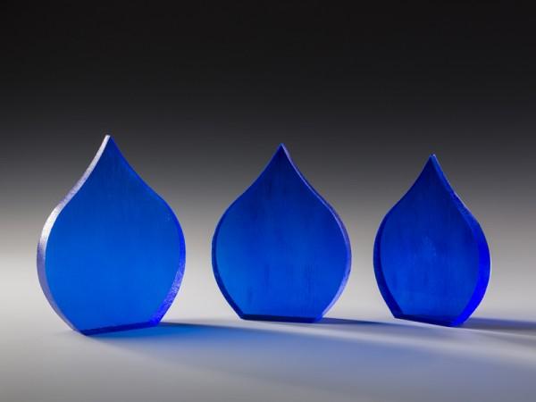 "Acrylglas Trophäe ""Edler Tropfen"", 3 Größen, 28mm Stärke, bedruckt !"