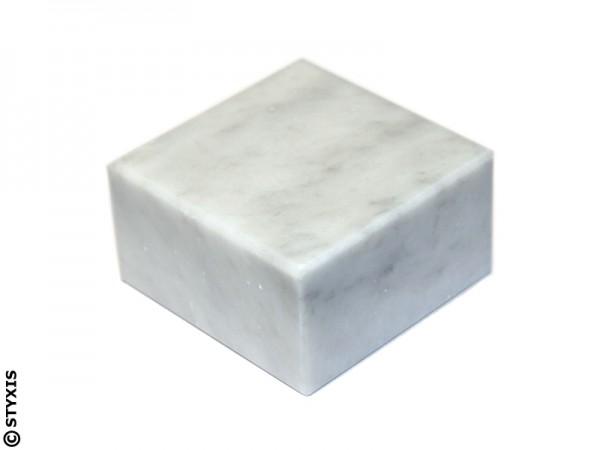 Marmor Sockel weiß 90x90x30mm