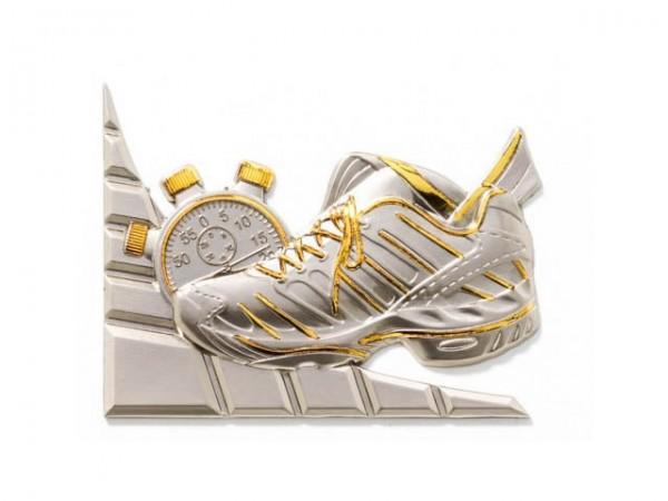 3D-Dekor Leichtathletik (Hochglanz Metall)