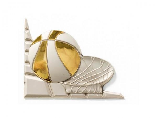 3D-Dekor Basketball (Hochglanz Metall)