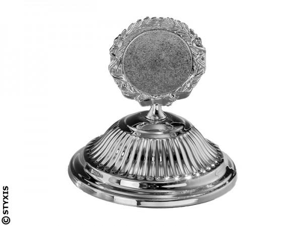 Rillendeckel Silber Ø140mm für 50mm Emblem