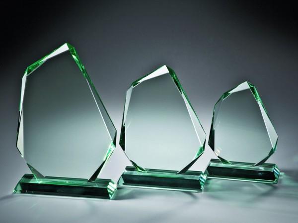 """Jadeglas Trophäe """"Glasfels"""" in 3 Größen 15mm Stärke"""