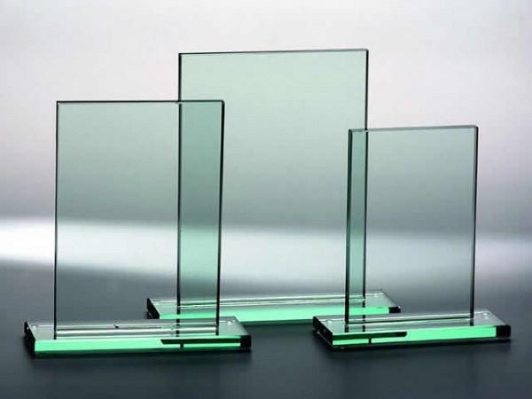 Glastrophäe Rechteck, 3 Größen, 10mm Stärke